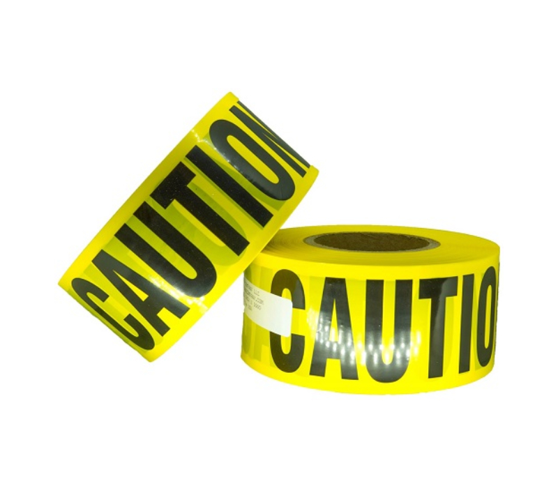 Example of caution barricade tape