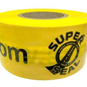 yellow custom barricade tape example